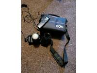 Canon EOS550d 18-55mm lens 50mmf1.8 lens, trigger and bag