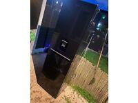 Black gloss beko freestanding fridge freezer