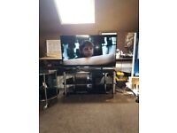 """50"""" sharp lcd tv with stand and matching coffee table"""