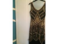 Gatsby style gold and black dress size 8 BRAND NEW!