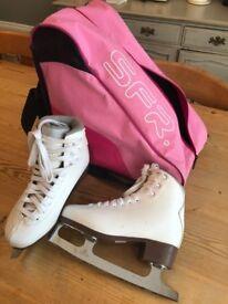 White Graf Bolero figure skating boots size 34