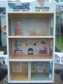 Vintage Sindy house, furniture, dolls and clothes