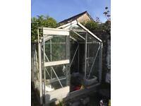 Glass greenhouse 6x4
