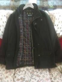 Barbour wool waterproof coat