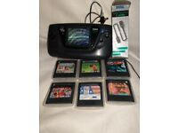 Sega Game Gear with Games, Gear 2 Gear Cable and Screen Magnifier