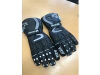 Frank Thomas Aqua Thermal Motorcycle Leather Gloves New Never been worn.