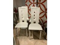 Lovely Cream Dining Table Chairs qty 4