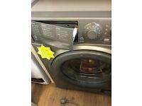 Silver hotpoint washer dryer 1400 spin . 8.6 kg