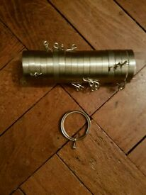 set of sliver curtain pole rings