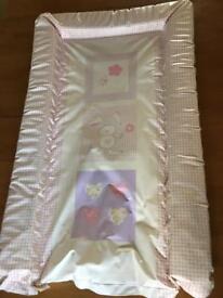 Pink baby change mat