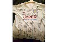 signed aston villa shirt