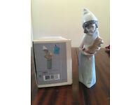 Lladro Shepherdess with Rooster figurine 04677