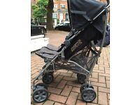 Barely BRAND NEW DOUBLE PUSHCHAIR from Mamas&Papas