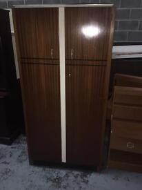 vintage double door wood wardrobe ideal shabby chic
