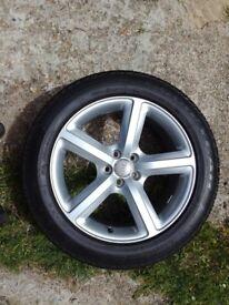 "Audi Q5 genuine Sline 19"" wheel with tyre 235 55 19"