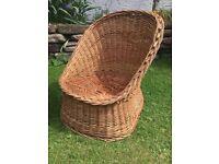 Wicker child's chair