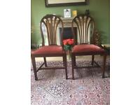 Six Edwardian/ Victorian dining chairs