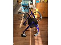 4 Wheel Rollator with Seat