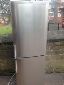 Silver Stainless fridge freezer..,,,so Cheap Free Delivery