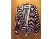 ZARA - Striped bodysuit Top (Crossover V-Neck) - Size M (BNWT)