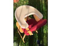Svan wooden (and padded/cushion) highchair/kids feeding chair