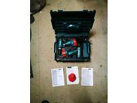 Makita cordless drill x2 set