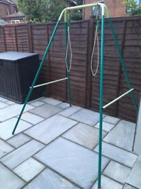 Metal swing and seats