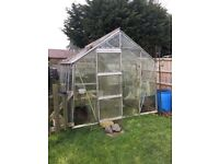 FREE to a good home 12'x8' Aluminium framed greenhouse in need of some TLC, collector to dismantle