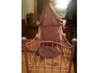 Baby Annabell metal cot
