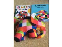 Elmer the Elephant and 2 Books