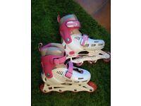 SFR Cyclone Adjustable Inline Skates, White/Pink size 12 - 2