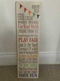 Wooden House Rules Art