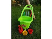 CHILDRENS GARDEN TROLLEY & TOOLS TOYS FROM TOYS R US