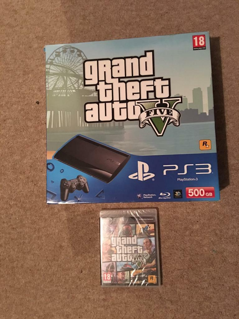 PlayStation 3 500 GB Super Slim with Grand Theft Auto V
