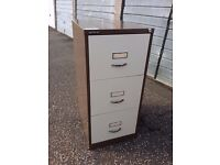 Bisley 3 drawer metal filing cabinet - no key
