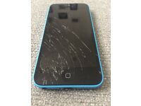 iPhone 5c. Cracked front screen!!