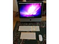 """20"""" iMac snow leopard 2011 10.6.8 400gb working wireless keyboard and mouse apple includes photoshop"""