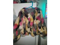 Stunning Next Fur Waste Coat Age 9