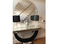 Mirrored Console Table & Mirror Set