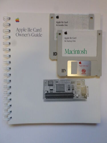Apple lle Card Owners Manual and Disks