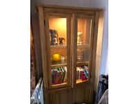Real Oak wood and Glass cabinet