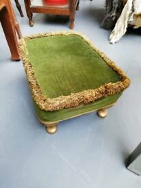 Gold and green footstool