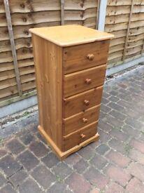 Pine 5 drawer dresser