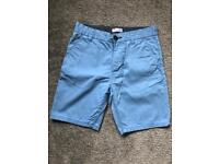 Next chino shorts blue - used once - age 13