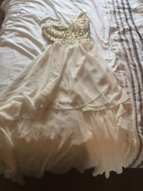 Cream and gold dress size 8