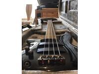 Left Handed Ibanez SR300L 4 String Bass (case not included).
