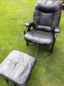 Swivel recliner & footstool