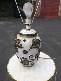 Artistic antique floral lamp verse
