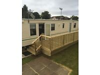 Static 6 berth caravan