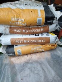 4 Bags post concrete